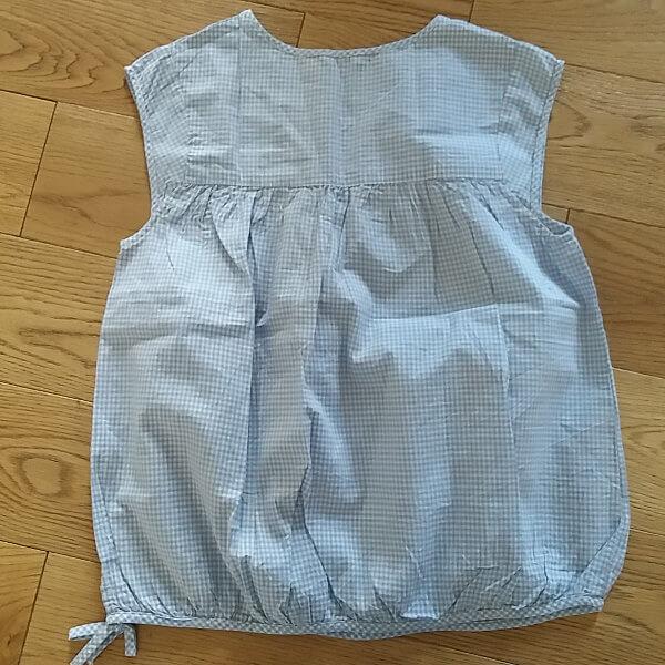 Jacadi blouse avec smocks en vichy dos