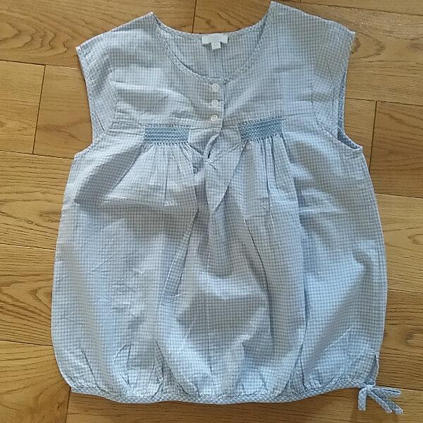 Jacadi blouse avec smocks en vichy