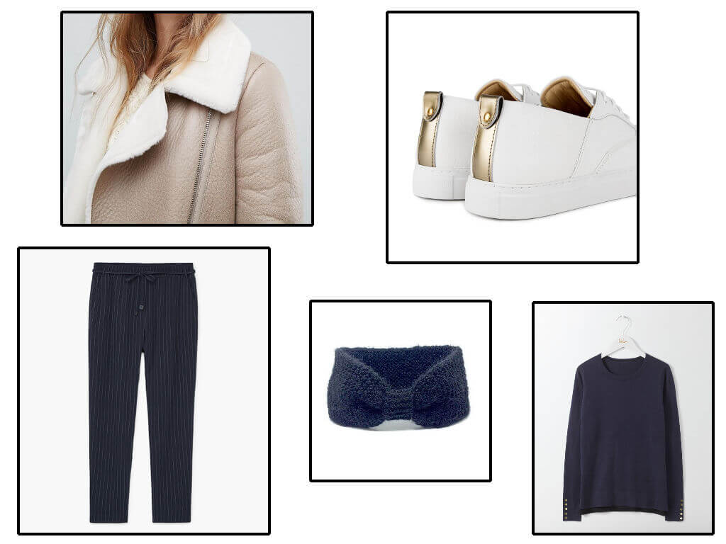 Ado fille en sneakers Garçonne et Chérubin, headband Comptoir Doré et blouson aviateur