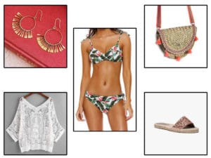 Look de plage tropical Sézane, Banana Moon, IKKS et SheIn